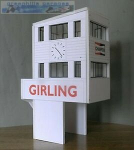 Greenhills-Scalextric-Slot-Car-Building-Goodwood-Control-Tower-Kit-1-43-Scale