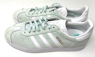 Adidas Gazelle Suede Mint Green White Sneakers NEW Men's Size: 8.5 Women's 10 | eBay