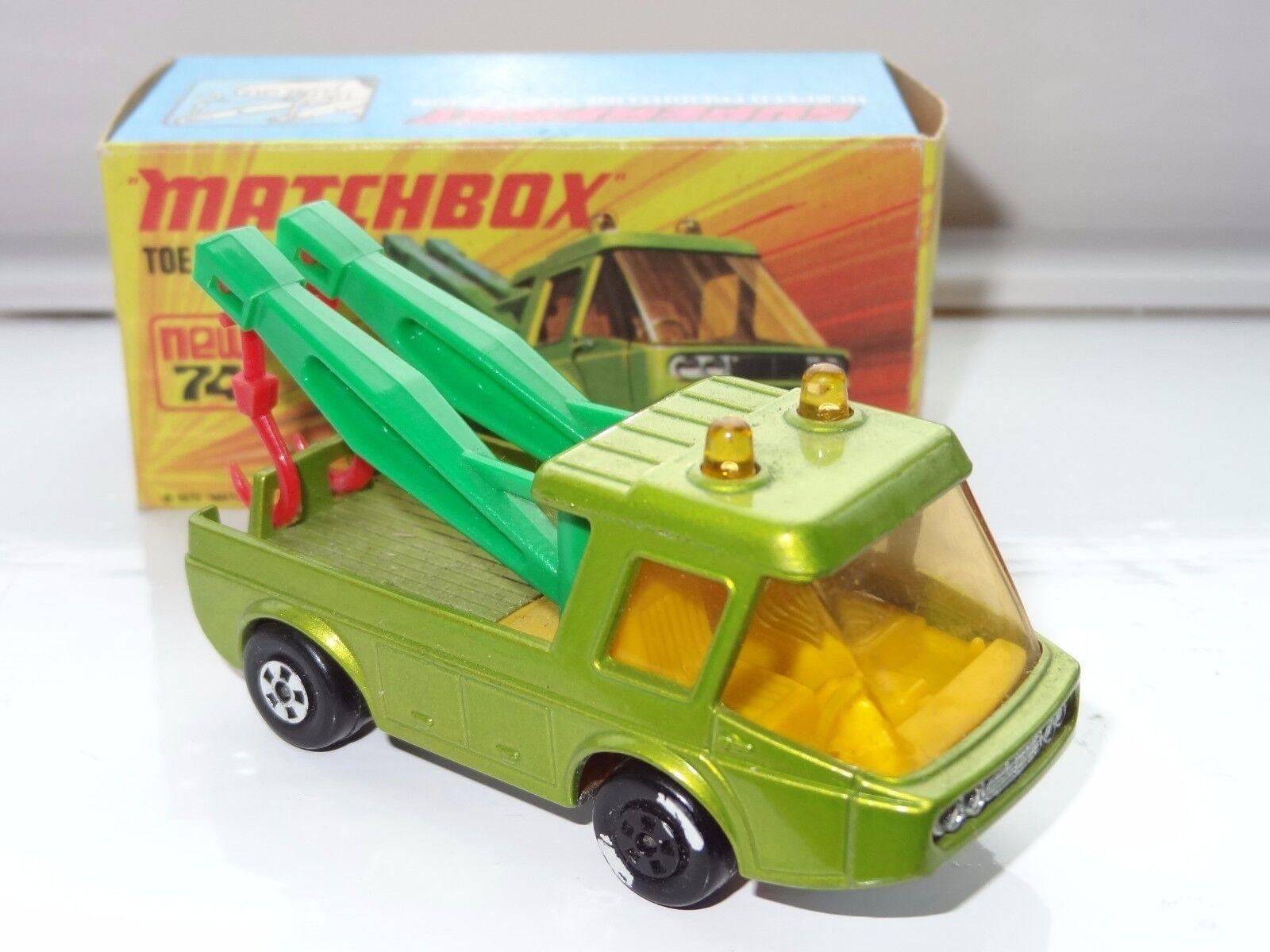 (K) lesney matchbox SUPERFAST TOE JOE BREAKDOWN - 74 factory error