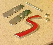 MINI COOPER S FRONT 3D BADGE GRILL ONE S SPORTS SUPERCHARGED EMBLEM BADGE RED