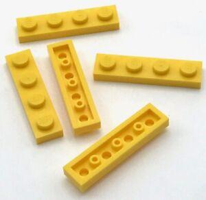 Lego Lot of 5 New Tan Plates 1 x 1 Dot Pieces Parts