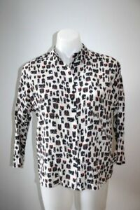 MAX-AND-Co-silk-print-blouse-size-38-AU-8-299-NEW