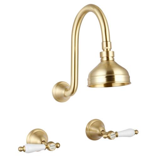 Mondella MAESTRO LEVER HANDLE SHOWER SET 1//4 Turn Valves,Brushed Brass*AUS Brand
