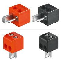 10x Lautsprecher-stecker Mini Din: 5x Rot+5x Schwarz; Lötfrei; Winkelstecker