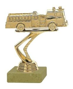 Pokal Feuerwehr-Auto gold auf Marmor (H=12 cm) inkl.Gravur jetzt nur 5,25 EUR