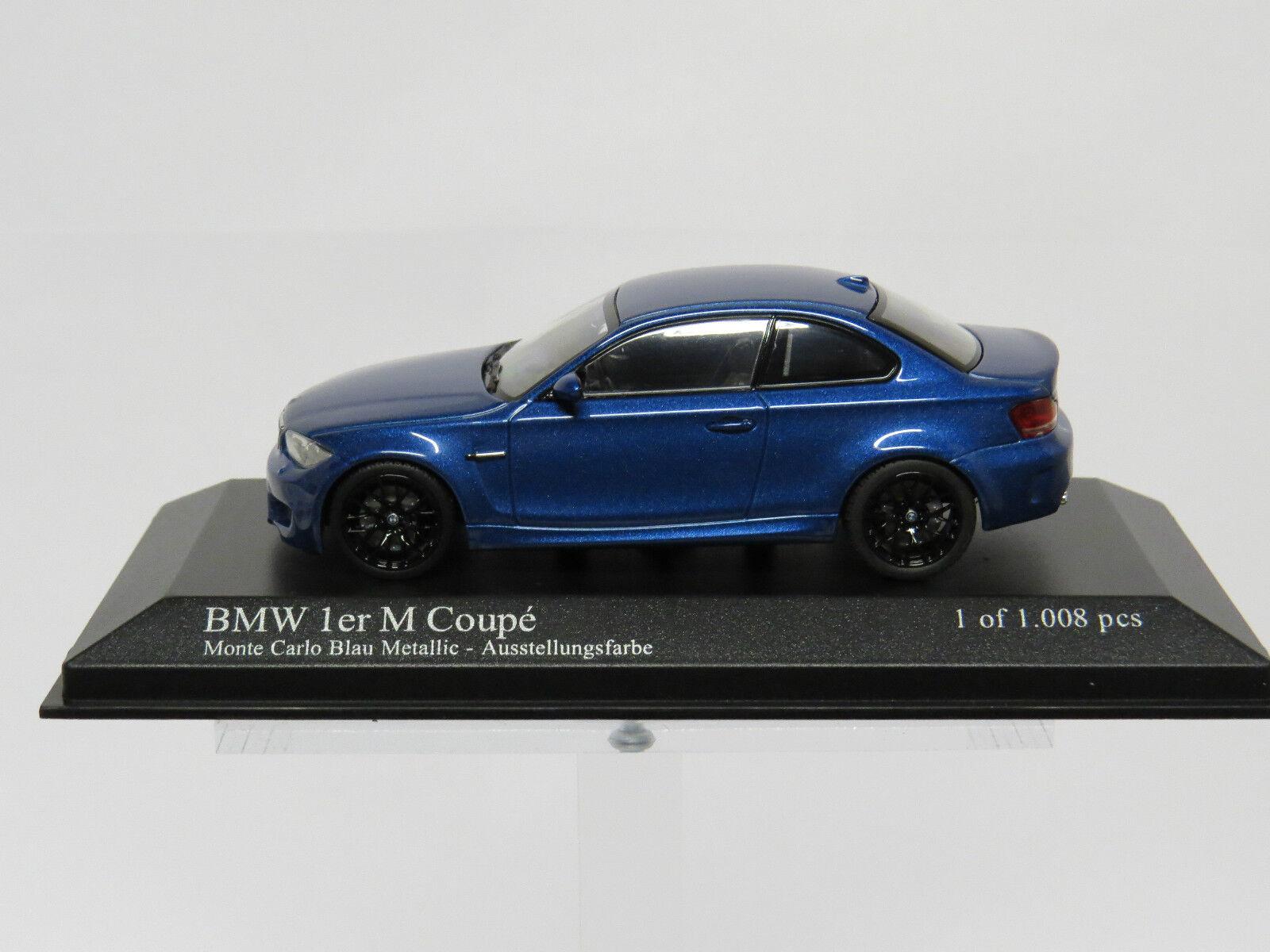 BMW 1 Series M Coupé 2011 bluee Metallic 1 43 Minichamps Nr 410020026