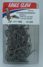 E25 Eagle Claw Stainless Steel O/'Shaughnessy Hook #254SS size: 4//0 qty: 100