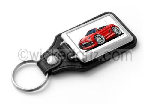 WickedKarz Cartoon Car Rover MG TF Sportscar in Red Stylish Key Ring