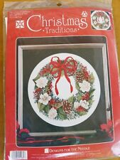 CHRISTMAS TRADITIONS Cross Stitch KIT  WREATH  Designs For Needle  New