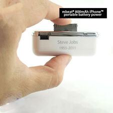 mbeat 800mAh iPhone portable battery power for iPhone 3G/3GS/4G/4S and iPod
