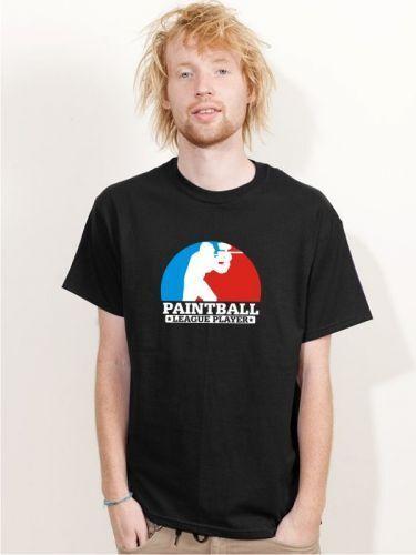 "BIGTIME /""PAINTBALL LEAGUE PLAYER/"" T-Shirt schwarz PB8"