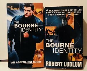The-Bourne-Identity-2002-film-VHS-and-Movie-Tie-In-Paperback-Matt-Damon