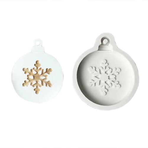 DIY Xmas Snowflake Christmas Tree Cake Cookie Silicone Mold Candle Clay Mold