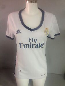 dcda7c7b4 Image is loading BNWT-genuine-Real-Madrid-women-jersey-home-16-
