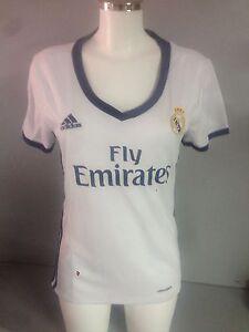 dcda7c7b4 Image is loading BNWT-genuine-Real-Madrid-women-jersey-home-16-