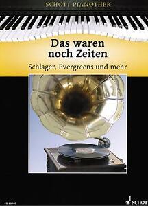 Klavier-Noten-Das-waren-noch-Zeiten-SCHLAGER-mittelschwer-Heumann-PIANOTHEK