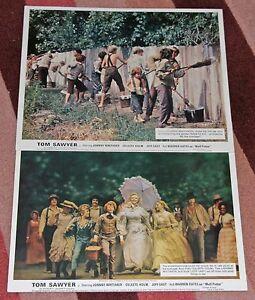 Film-Tom-Sawyer-1973-Two-colour-10x8-034-lobby-cards-Original-Johnny-Whitaker