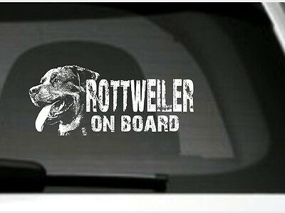 Rottweiler On Board, Car Sticker,High Detail, Great Gift For Dog Lover
