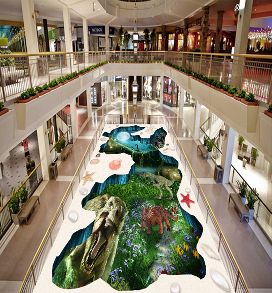 3D Jungle dinosaurs 253 Floor WallPaper Murals Wall Print Decal 5D AJ WALLPAPER