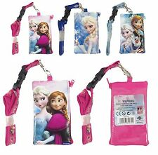 (3x) Disney Frozen Elsa Lanyard Fast-pass ID Ticket iPhone Badge Holder Wallet