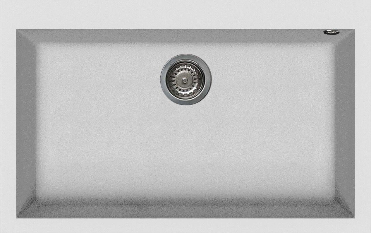 Lavello Fragranite Elleci Quadra 1 Vasca LGQ13068NA 79x50 Bianco Titano G68
