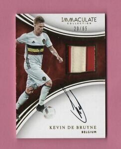 2017 Immaculate Kevin De Bruyne SP On Card Auto Card /65 Soccer Rookie Patch