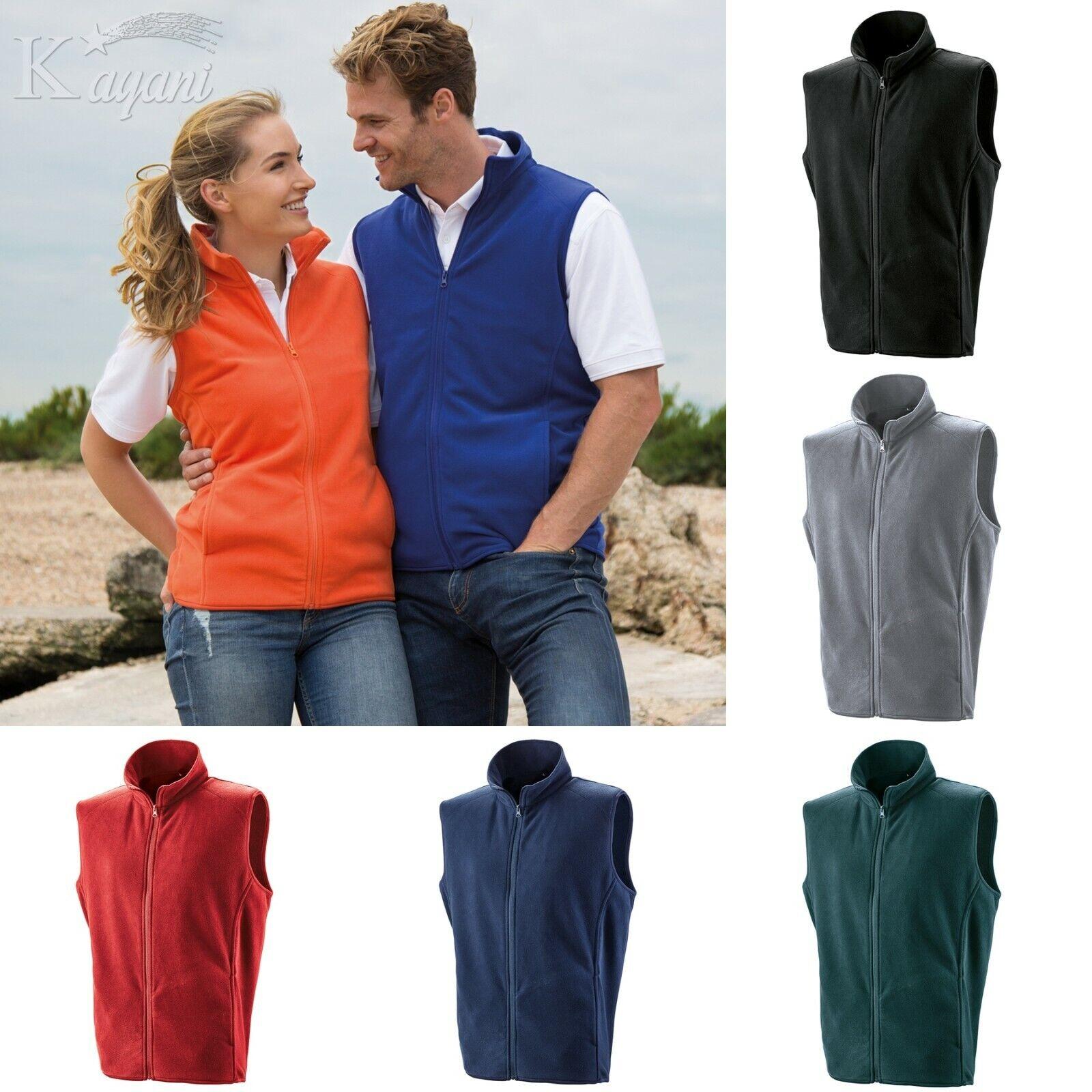 Result Micro Fleece GILET Lightweight BODYWARMER Sleeveless Vest Fleece XS- 3XL
