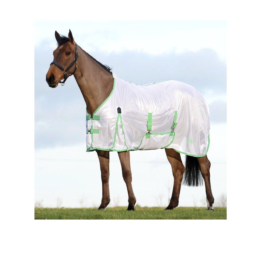 Standard Hals Masche Fly Blatt für Pferde Weiß   Minze   Blau 78 Zoll