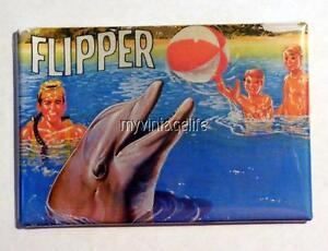 Vintage Flipper Tv Show Dolphin Lunchbox Retro 2 X 3