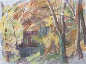 Edith-reichert-1924-2013-Indian-Summer-dia-soleado-en-el-jardin-bosque-otono-los-arboles