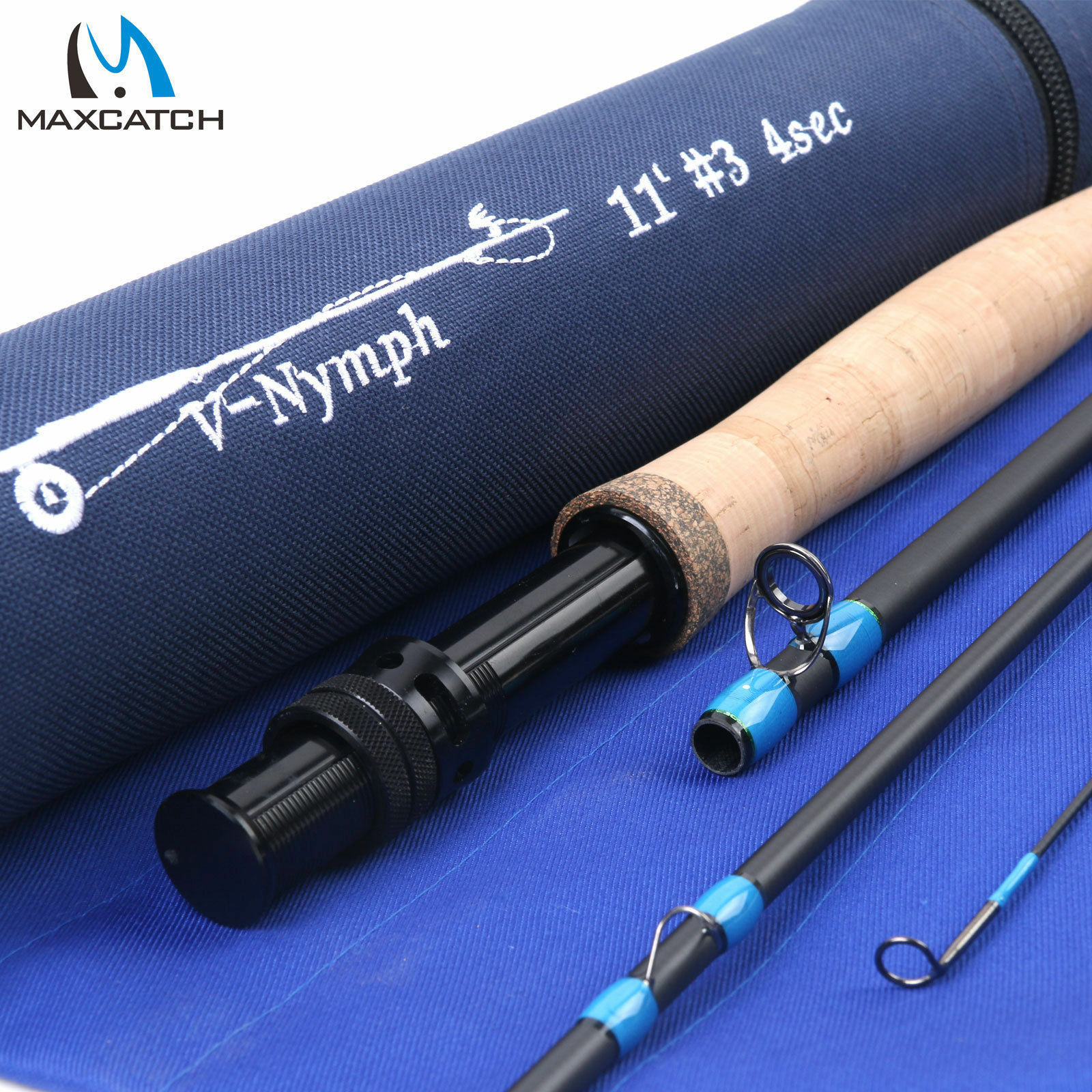 Maxcatch Fly Rod Nymph 10FT 11FT 2 3 4WT 4Sec Fast Action Graphite IM10