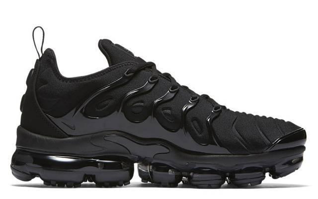 Nike air vapormax plus 924453-004 triple schwarzen schwarzen schwarzen dunkelgrau 63f256