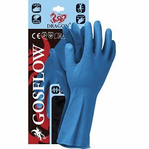 Arbeitskleidung & -schutz Gummihandschuhe 1 Paar Handschuhe Chemie Lebensmittelindustrie Blau Gr Persönliche Schutzausrüstung S-xl Neu Exquisite Traditionelle Stickkunst