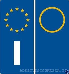 Adesivo vinile targa sigla anno auto etichette europa omologati riflettenti !!