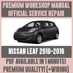workshop manual service repair guide for nissan leaf 2010 2016 rh ebay co uk nissan leaf manual 2014 nissan leaf manual 2012