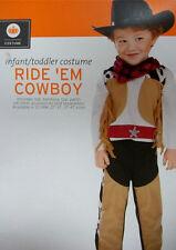 Cowboy Costume Hat Bandana Cowgirl Sheriff Western Rodeo 12-24 Month
