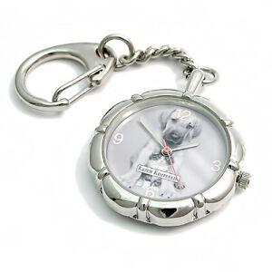 Keith Kimberlin Cute Puppy & Kitten Fob Watch Handbag Charm Keyring KK 24b