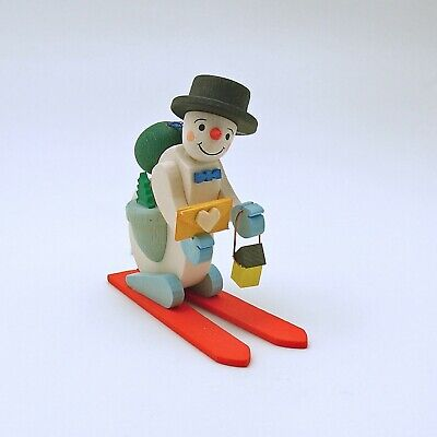 Christmas Ornament Snowman on Skis Erzgebirge Germany | eBay