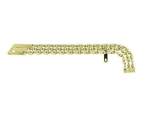 NEW  gold Triple Flat Twisted Chain  Guard for 20  Bike Lowrider Cruiser Chopper  cheap and fashion