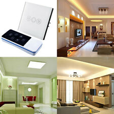 1 Gang Light Touch Sensor Switch Remote Dimmer White Crystal Glass Panel EU