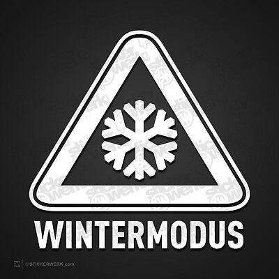 0407    Aufkleber WINTERMODUS     Winterauto Shocker Sticker Snow Ratte Dubs