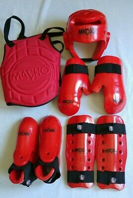 Macho Dyna Martial Arts// Karate 7PC Sparring Gear Set