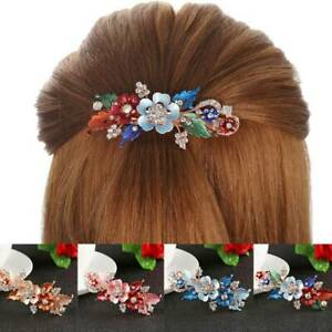 Women-039-s-Bridal-Flower-Barrettes-Pins-Clips-Slide-Hair-Accessories-Wedding-Party