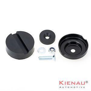 Wagenheberaufnahme-70x25-mm-rund-Gummi-Klotz-Adapter-Set-inkl-Aufnahmeteller