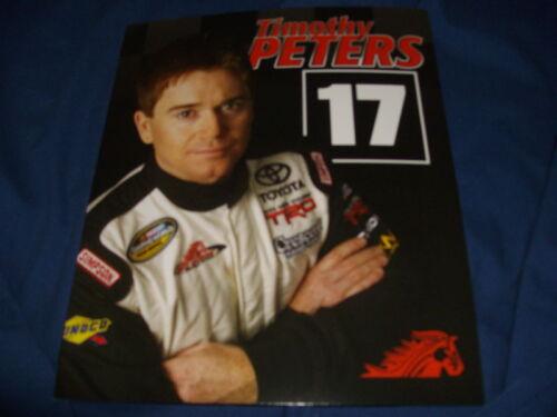 2011 TIMOTHY PETERS #17 RED HORSE RACIN NASCAR POSTCARD