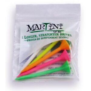 Lot-de-20-Multi-Color-authentique-Martini-Tees-de-Golf-Bonus-gratuit