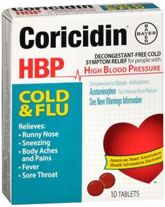 Coricidin HBP Cold Flue Tablet 10 count
