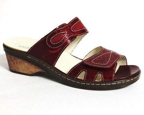 Bosque alfil hetta sandalias de cuero señora rojo 547505-851-022