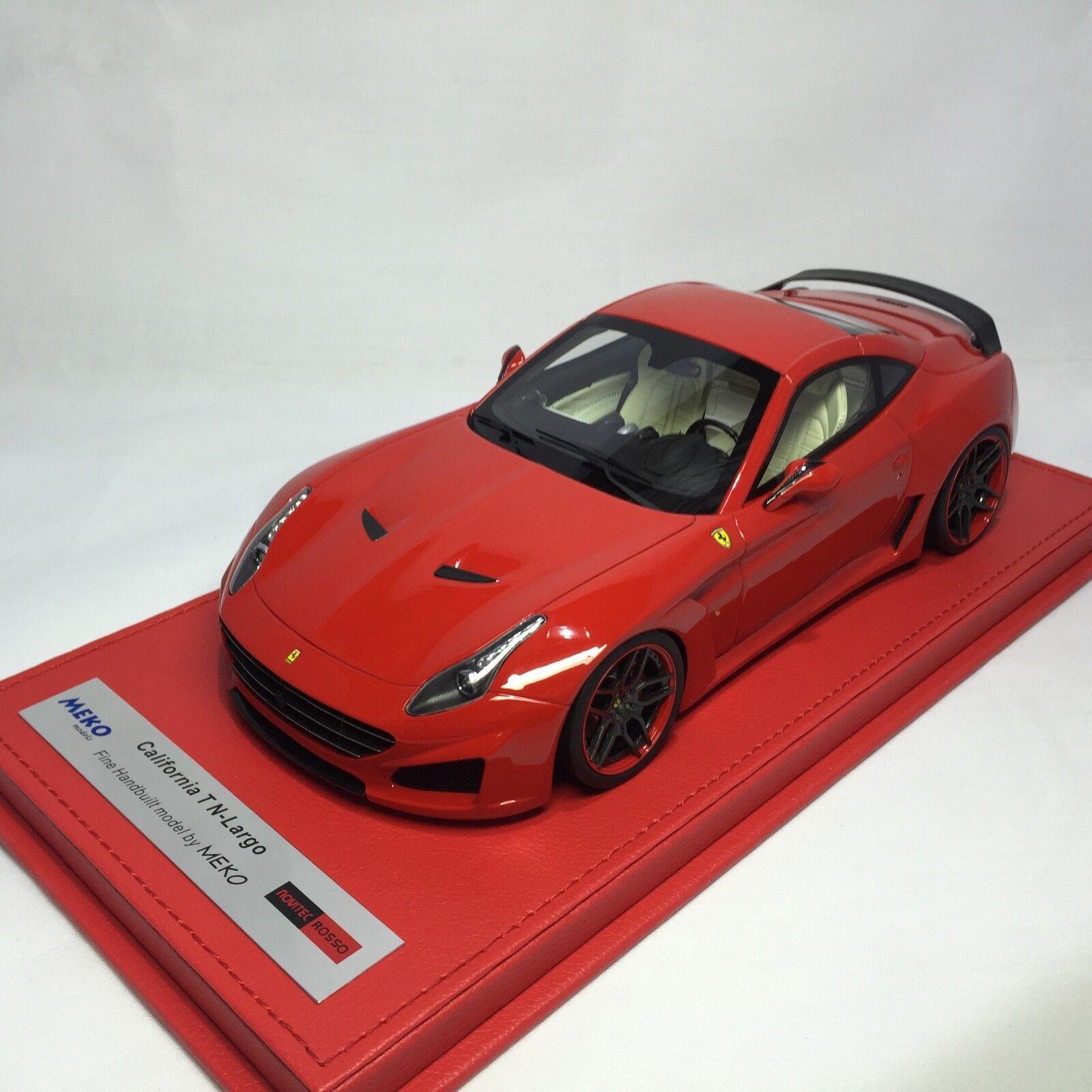 Meko  Ferrari California T N-largo Rosso Rojo Ltd 50 piezas