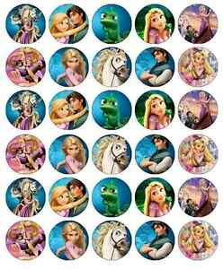 30 Tangled Rapunzel Disney Cupcake Toppers Edible Wafer ...